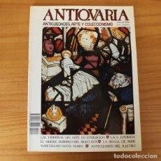 Arte: ANTIQUARIA 35 ANTIGUEDADES ARTE Y COLECCIONISMO. VIDRIERAS, LACA JAPONESA, BIENAL DE PARIS, RASTRO... Lote 194653140