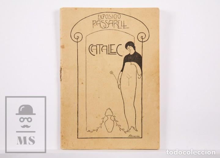 CATÁLOGO DE EXPOSICIÓN AÑO 1912. JAUME PASARELL, CARICATURAS - PUBLICIDAD BADALONA - ANÍS DEL MONO (Arte - Catálogos)