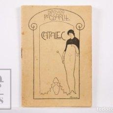 Arte: CATÁLOGO DE EXPOSICIÓN AÑO 1912. JAUME PASARELL, CARICATURAS - PUBLICIDAD BADALONA - ANÍS DEL MONO. Lote 194787707