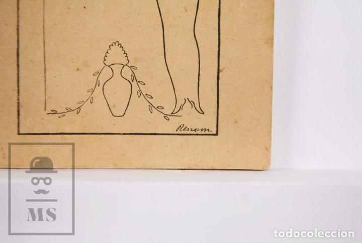 Arte: Catálogo de Exposición Año 1912. Jaume Pasarell, Caricaturas - Publicidad Badalona - Anís del Mono - Foto 2 - 194787707