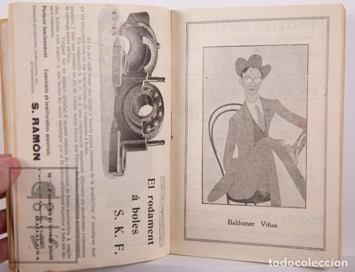Arte: Catálogo de Exposición Año 1912. Jaume Pasarell, Caricaturas - Publicidad Badalona - Anís del Mono - Foto 6 - 194787707