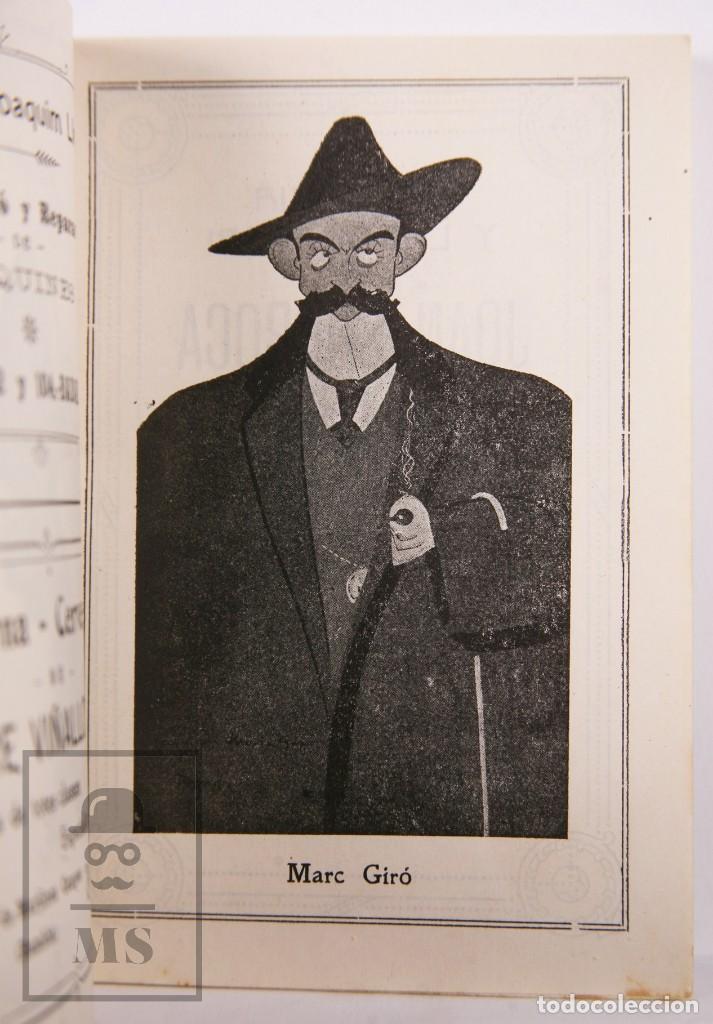 Arte: Catálogo de Exposición Año 1912. Jaume Pasarell, Caricaturas - Publicidad Badalona - Anís del Mono - Foto 7 - 194787707