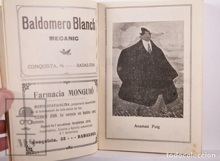 Arte: Catálogo de Exposición Año 1912. Jaume Pasarell, Caricaturas - Publicidad Badalona - Anís del Mono - Foto 8 - 194787707