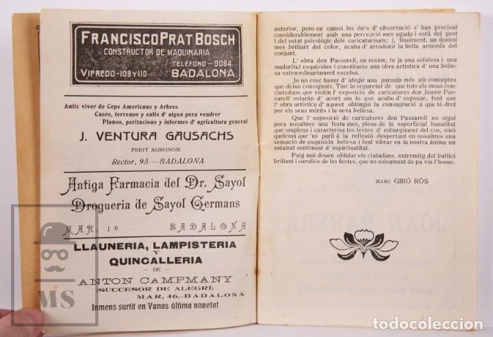 Arte: Catálogo de Exposición Año 1912. Jaume Pasarell, Caricaturas - Publicidad Badalona - Anís del Mono - Foto 9 - 194787707
