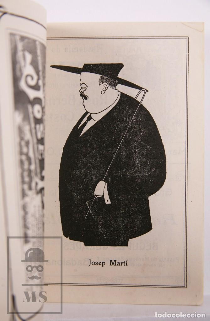 Arte: Catálogo de Exposición Año 1912. Jaume Pasarell, Caricaturas - Publicidad Badalona - Anís del Mono - Foto 10 - 194787707