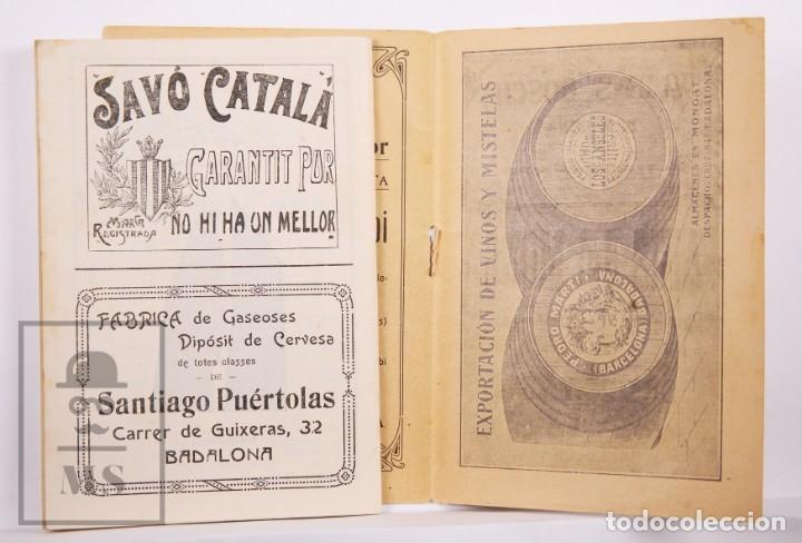 Arte: Catálogo de Exposición Año 1912. Jaume Pasarell, Caricaturas - Publicidad Badalona - Anís del Mono - Foto 11 - 194787707