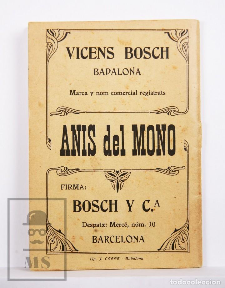 Arte: Catálogo de Exposición Año 1912. Jaume Pasarell, Caricaturas - Publicidad Badalona - Anís del Mono - Foto 12 - 194787707
