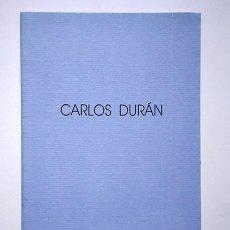 Arte: CARLOS DURÁN. SALA PALACIO PROVINCIAL, MÁLAGA, 1989. Lote 194903488
