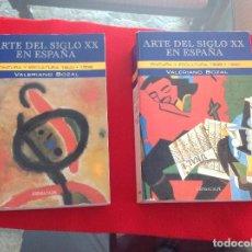 Arte: LOS 2 TOMOS DE ARTE DEL SIGLO XX EN ESPAÑA, DE VALERIANO BOZAL, ESPASA CALPE 1995, . Lote 194945085