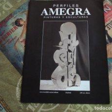 Arte: TRIPTICO CATALOGO EXPOSICION EN MALLORCA DEL AUTOR AMEGRA. Lote 195044442