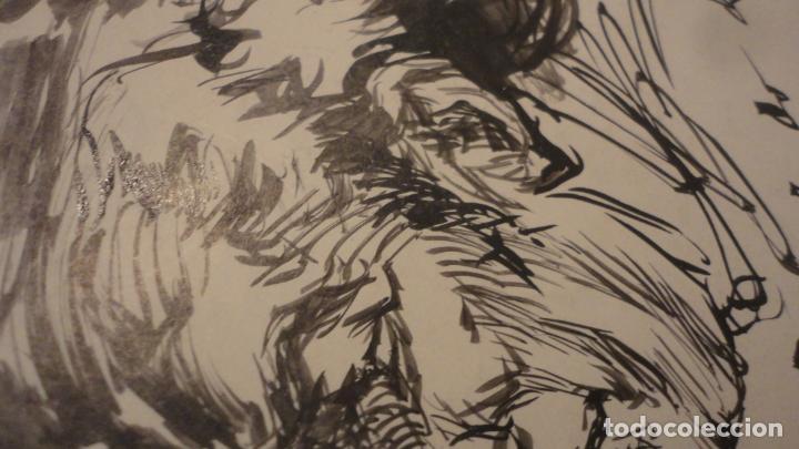 Arte: ANTIGUO DIPTICO.EXPOSICION PINTURAS.EMILE MERY.FRANCISCO DIAZ DIAZ.1949.DIBUJO ORIGINAL A TINTA - Foto 4 - 195145193