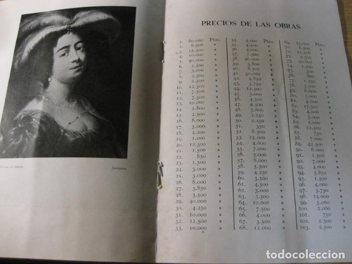 Arte: catalogo exposicion y venta de cuadros antiguos . sala pares barcelona . 1935 col. conde malladas - Foto 5 - 195149577