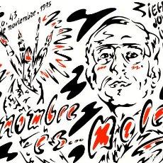 Arte: CARTEL EXPOSICIÓN DE HERMINIO MOLERO. GALERÍA BUADES 1975. 59 X 38 CM.. Lote 195196047