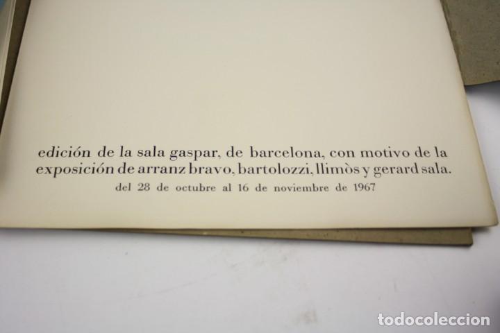 Arte: Mes-plec, 4 poemes de Santos Torroella, Arranz-Bravo, Bartolozzi, Llimós, Sala, 1967, Sala Gaspar. - Foto 8 - 195278946