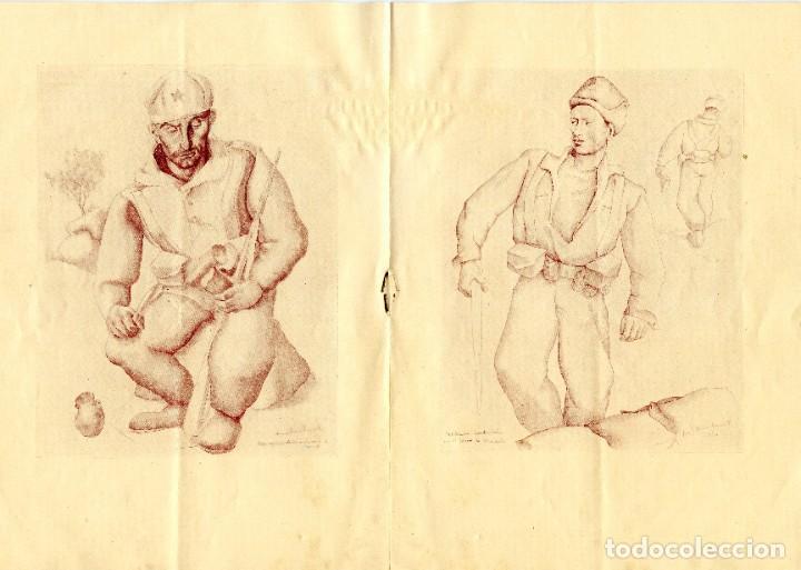 Arte: CATÁLOGO EXPOSICIÓN DIBUJOS SOBRE LA GUERRA LUIS QUINTANILLA (1937) - Foto 3 - 195303557