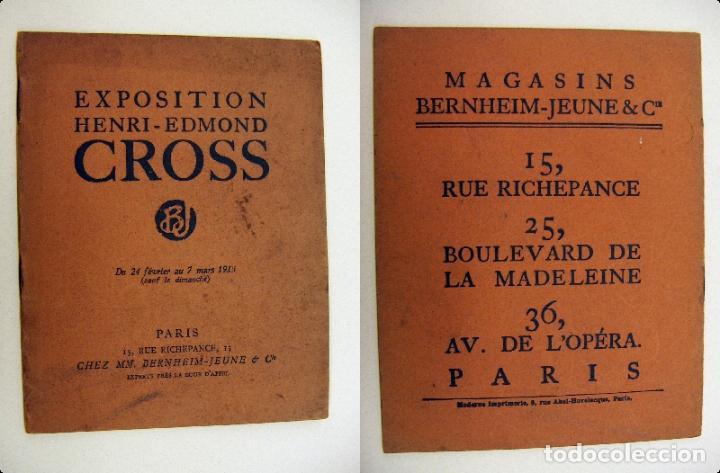 CATALOGO EXPOSICIÓN HENRI EDMOND CROSS 1913 (Arte - Catálogos)
