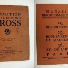 Arte: CATALOGO EXPOSICIÓN HENRI EDMOND CROSS 1913. Lote 195376305