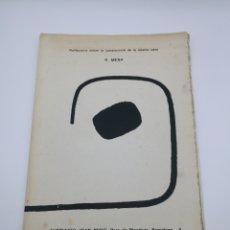 Arte: TRES PROGRAMAS EXPOSICIONES RUFINO MESA. Lote 195496550