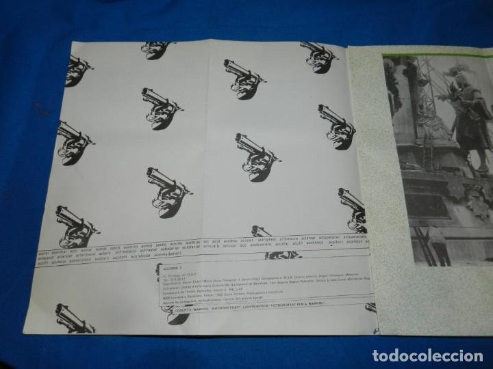 Arte: (M) CATALOGO REVISTA - ACCIONS 1983 - PORTADA ANDY WARHOL, POL BORRÀS, MANOLO VALDES - Foto 2 - 195972861