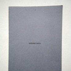 Arte: ANTONIO MAYA (JAÉN 1950). GALERÍA AELE PUIGCERDÁ, MADRID, 1976.. Lote 196378047