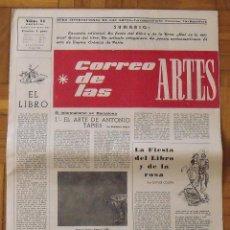 Arte: CORREO DE LAS ARTES 11. 1958. EL ARTE DE ANTONIO TAPIES. BARCELONA. 45X32 CM. 8 PÁGINAS.. Lote 197092251