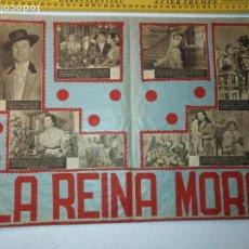 Arte: ANTIGUO COLLAGE CINE - PELICULA LA REINA MORA - PEPE MARCHENA ANTOÑITA MORENO .... Lote 197511730