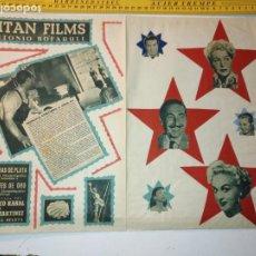 Arte: ANTIGUO COLLAGE CINE - ANTONIO BOFARULL TITAN FILMS FRANCISCO ECHEVERRIA. Lote 197569608