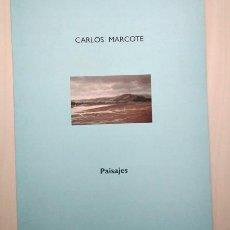 Arte: CARLOS MARCOTE (SALVATIERRA 1950) 'PAISAJES'. TEXTO DANIEL CASTILLEJO. ESPACIO CAJA BURGOS, 2000. Lote 198803851