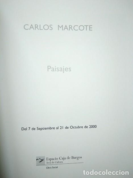 Arte: Carlos Marcote (Salvatierra 1950) 'Paisajes'. Texto Daniel Castillejo. Espacio Caja Burgos, 2000 - Foto 2 - 198803851