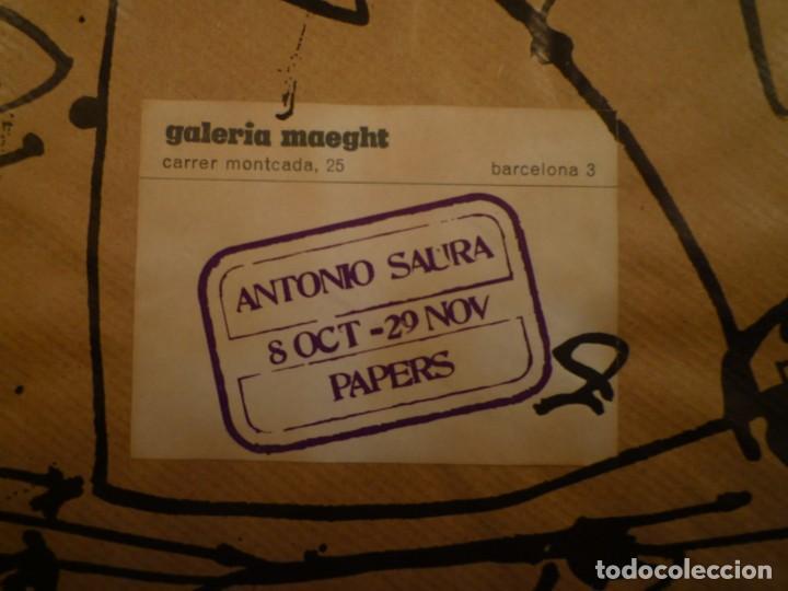 ANTONIO SAURA. PAPERS 1954-1975. INVITACIÓN. GALERIA MAEGHT. 1984 (Arte - Catálogos)