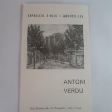 Arte: EXPOSICION ANTONI VERDU FIRMADO POR EL ARTISTA. Lote 199483046