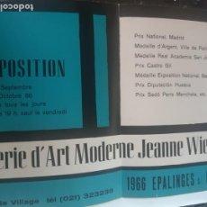 Arte: EXPOSICION MARIA JOSEPA COLOM. CARTEL. GALERIA ART MODERNO JEANNE WIEBENGA. Lote 199483307