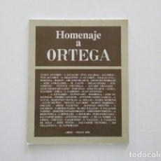 Arte: HOMENAJE A JOSÉ ORTEGA, GALERÍA VILLANUEVA, TEXTOS DE GABRIEL CELAYA, BLAS OTERO, JM MORENO GALVÁN. Lote 200027345