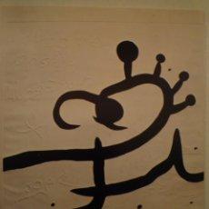 Arte: JOAN MIRÓ. 5 GRAVATS MÉS 1 PORTADA. SALA GASPAR. 1976. Lote 202108575