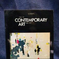 Arte: CATALOGO SOTHEBY´S CONTEMPORARY ART 1945 1977 ARTE CONTEMPORANEO 25X18CMS. Lote 205810590