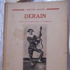 Arte: ADOLPHE BASLER DERAIN COLLECTION LES ARTISTES NOUVEAUX. PARIS, 1931. 19,5 X 14,5 CM. Lote 210228170