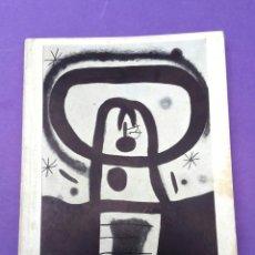 Arte: JOAN MIRÓ - 1970 - PREMI INTERNACIONAL DE DIBUIX. Lote 210395352