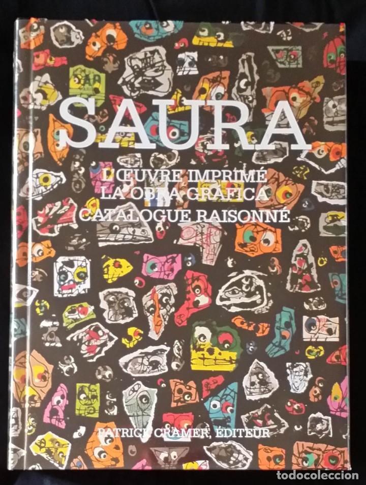 Arte: CAFLISH: Antonio SAURA, catálogo razonado de la obra gráfica, NUEVO / CRAMER - Foto 2 - 210404712