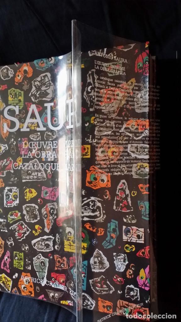Arte: CAFLISH: Antonio SAURA, catálogo razonado de la obra gráfica, NUEVO / CRAMER - Foto 5 - 210404712