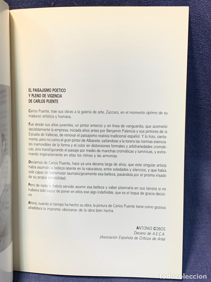 Arte: catalogo exosicion galeria zuccaro carlos puente 1990 obra reciente oleos 24x16cms - Foto 4 - 210457007