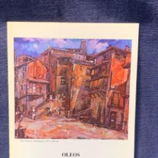 Arte: CATALOGO EXOSICION GALERIA ZUCCARO JOSE MINGOL 1990 OBRA RECIENTE OLEOS 23X16,5CMS. Lote 210457145