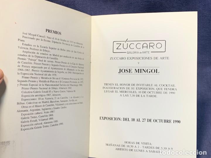 Arte: catalogo exosicion galeria zuccaro jose mingol 1990 obra reciente oleos 23x16,5cms - Foto 3 - 210457145