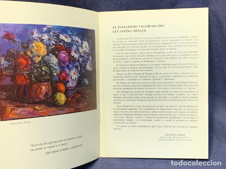 Arte: catalogo exosicion galeria zuccaro jose mingol 1990 obra reciente oleos 23x16,5cms - Foto 5 - 210457145
