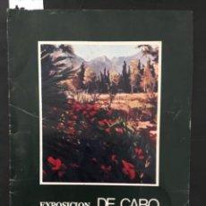 Arte: EXPOSICION DE CABO, CIRCULO DE BELLAS ARTES, PALMA MALLORCA, 1977. Lote 210465927