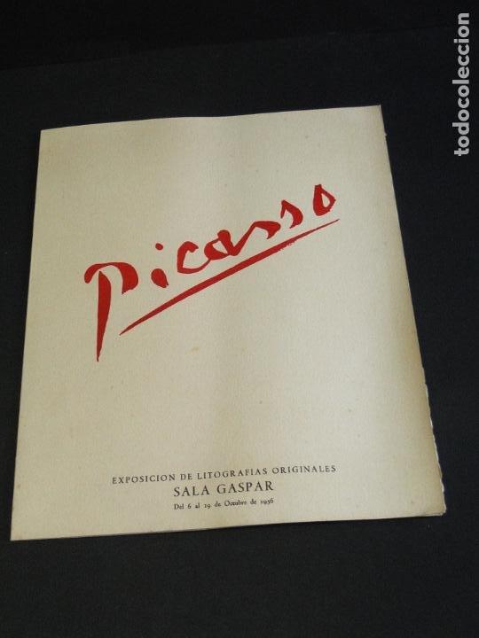 PICASSO, EXPOSICIÓN LITOGRAFÍAS ORIGINALES SALA GASPAR (Arte - Catálogos)