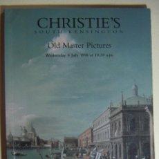 Arte: CATALOGO DE SUBASTA DE ARTE DE CHRISTIES 1998. Lote 212356485