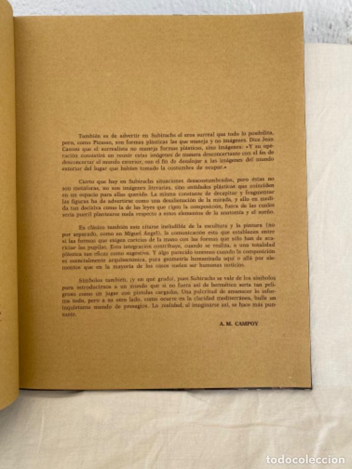 Arte: Subirachs la realidad imaginada Josep Maria Subirachs catálogo exposición Galería Biosca Madrid 1977 - Foto 3 - 213642425