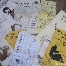 Arte: LOTE 12 CATALOGO EXPOSICION DE PINTOR ROMAN BONET . AÑOS 70. Lote 217709040