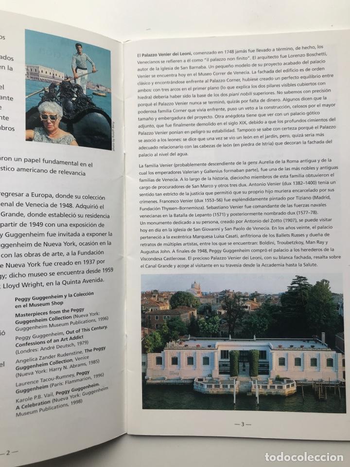 Arte: Envío 8€. Guía folleto mini catalogo de 23 pag. en español de PEGGY GUGGENHEIM COLLECTON 19x11cm - Foto 3 - 218076513