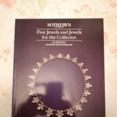 Arte: CATALOGO SOTHEBY'S FINE JEWELS AND JEWELS FOR THE COLLECTOR. Lote 218340302